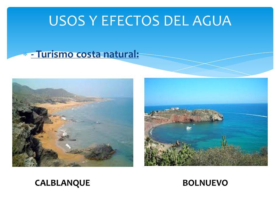 USOS Y EFECTOS DEL AGUA - Turismo costa natural: CALBLANQUE BOLNUEVO