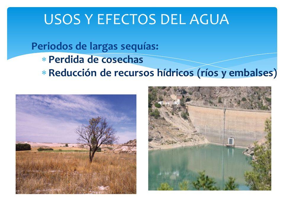 USOS Y EFECTOS DEL AGUA Periodos de largas sequías:
