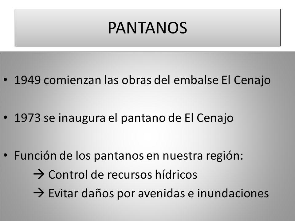 PANTANOS 1949 comienzan las obras del embalse El Cenajo
