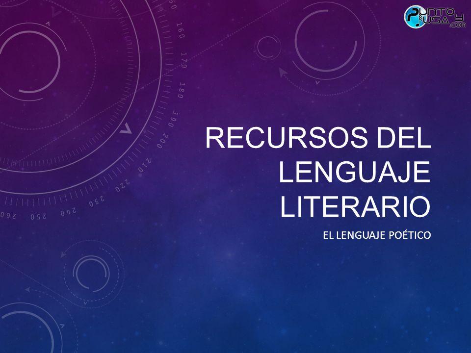Recursos del lenguaje literario