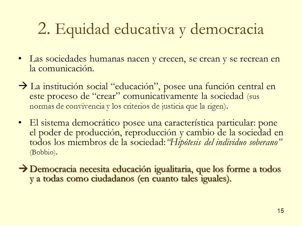 2. Equidad educativa y democracia