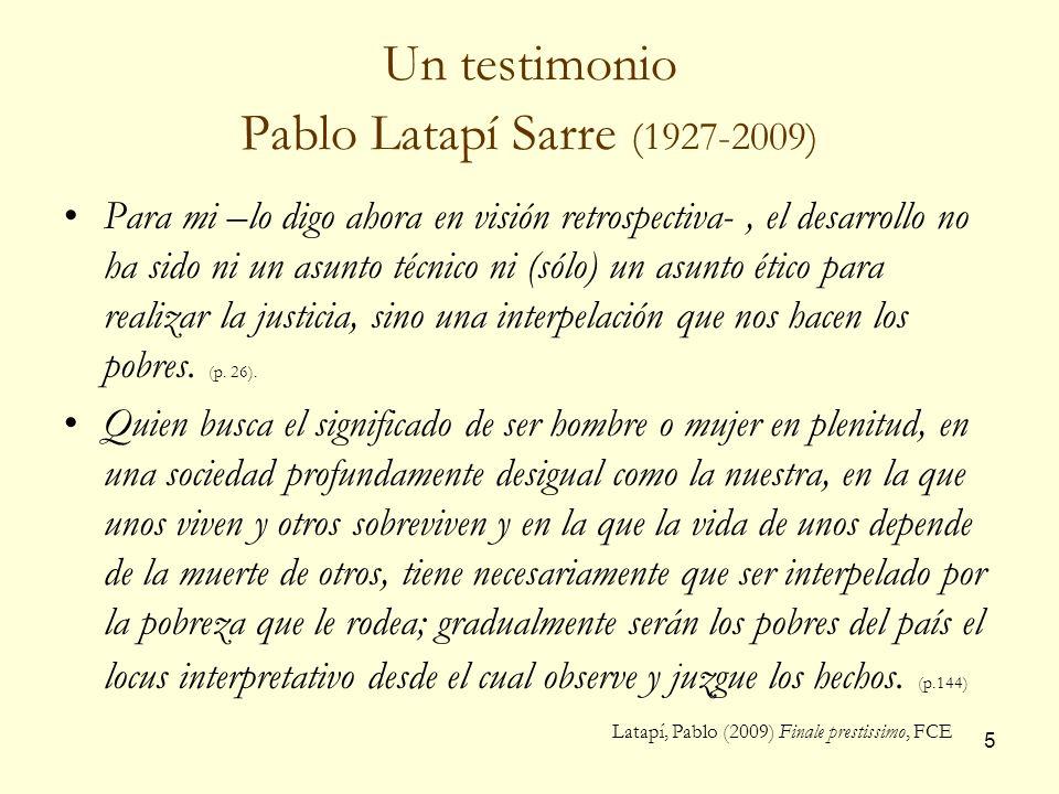 Un testimonio Pablo Latapí Sarre (1927-2009)