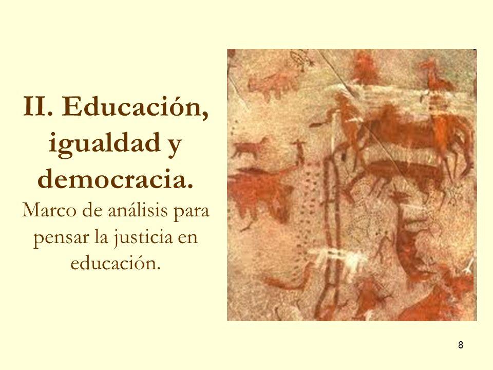II. Educación, igualdad y democracia
