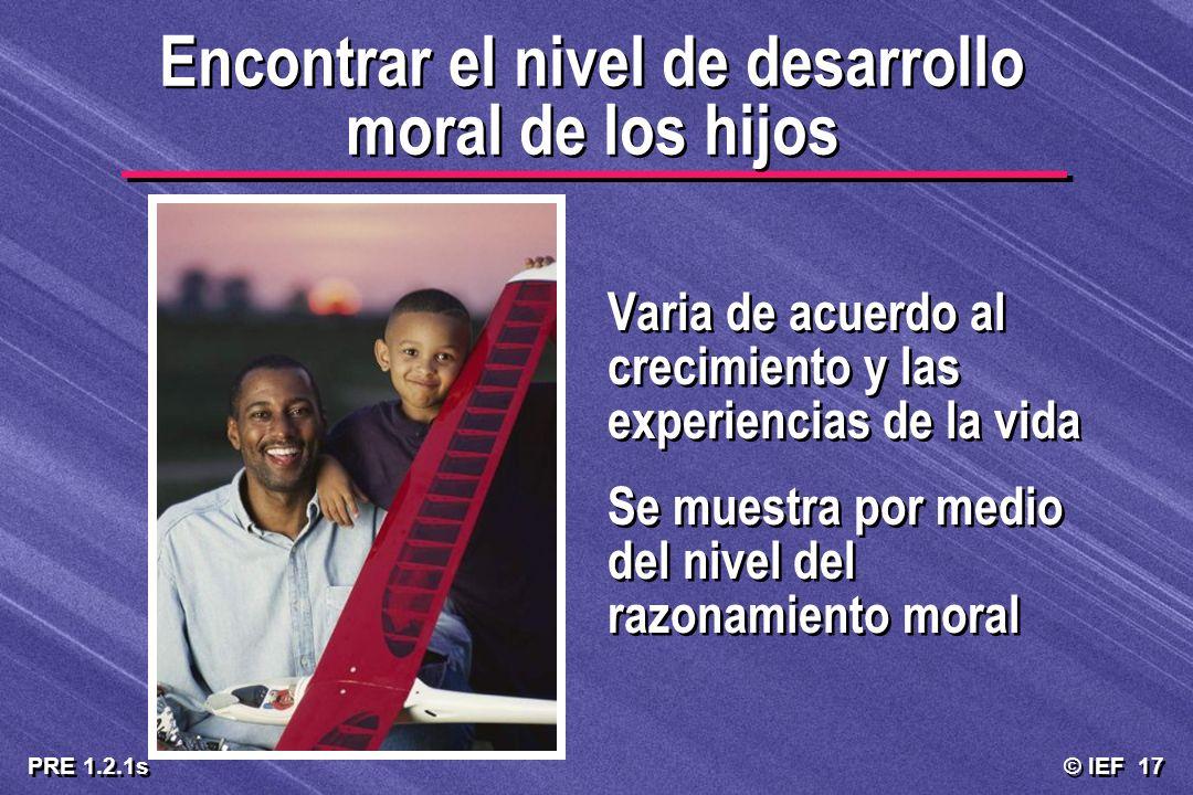 Encontrar el nivel de desarrollo moral de los hijos