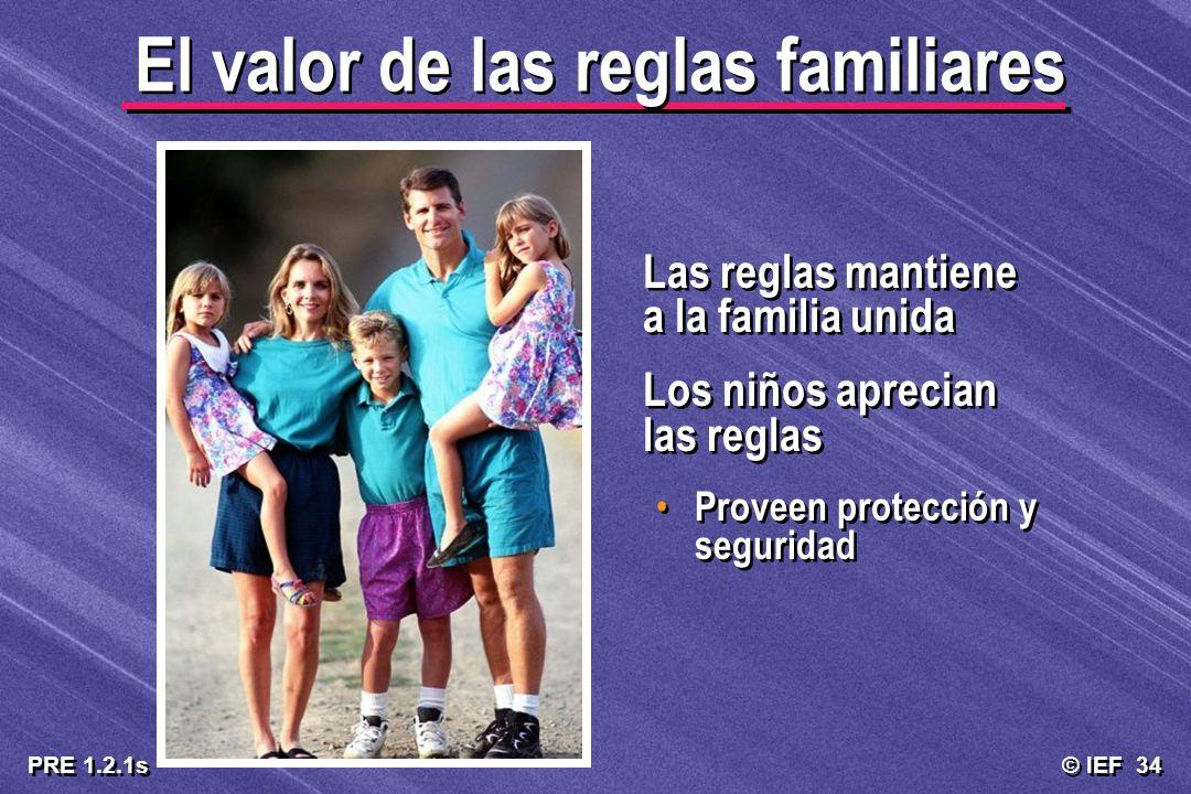 El valor de las reglas familiares