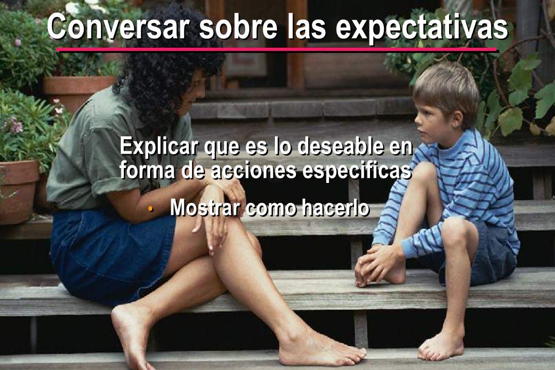 Conversar sobre las expectativas