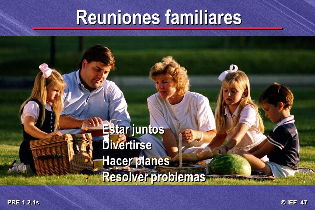 Reuniones familiares Estar juntos Divertirse Hacer planes