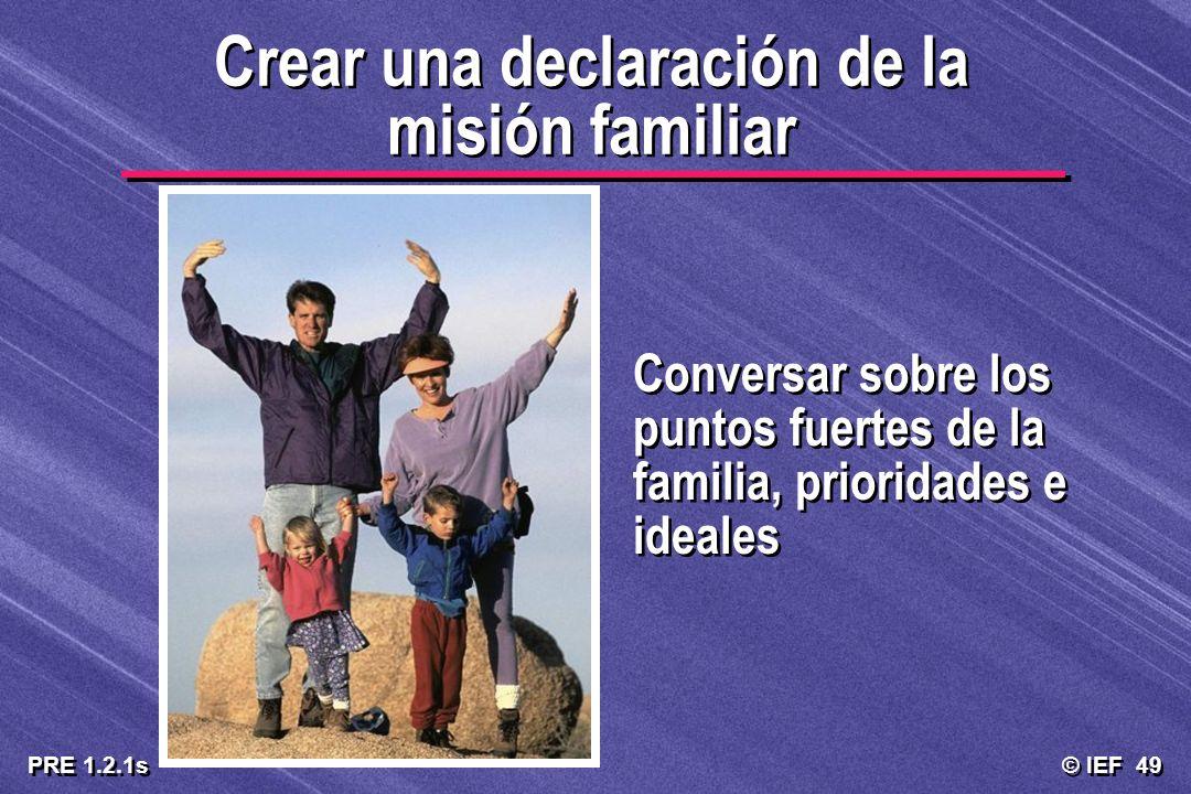 Crear una declaración de la misión familiar