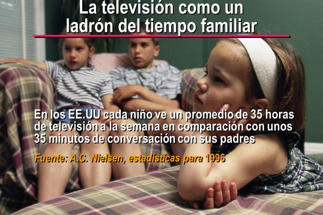 La televisión como un ladrón del tiempo familiar
