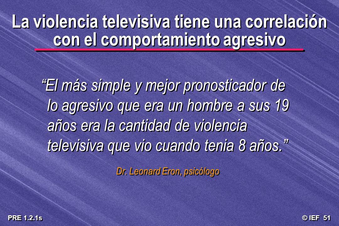 La violencia televisiva tiene una correlación con el comportamiento agresivo
