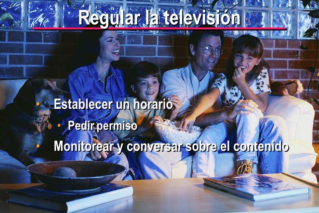 Regular la televisión Establecer un horario