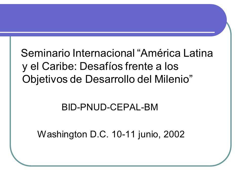 Seminario Internacional América Latina y el Caribe: Desafíos frente a los Objetivos de Desarrollo del Milenio