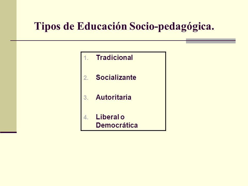 Tipos de Educación Socio-pedagógica.