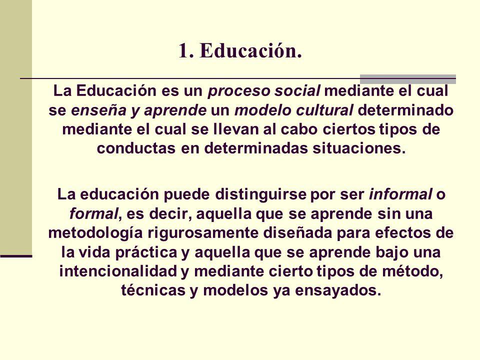1. Educación.