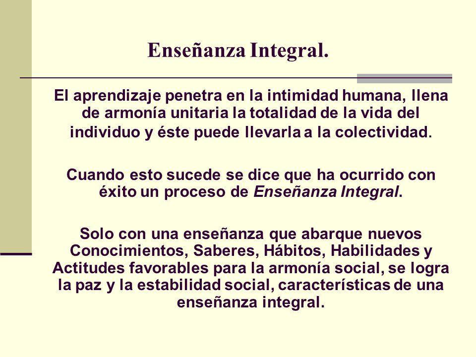 Enseñanza Integral.