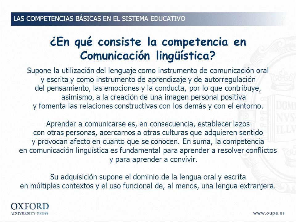 ¿En qué consiste la competencia en Comunicación lingüística