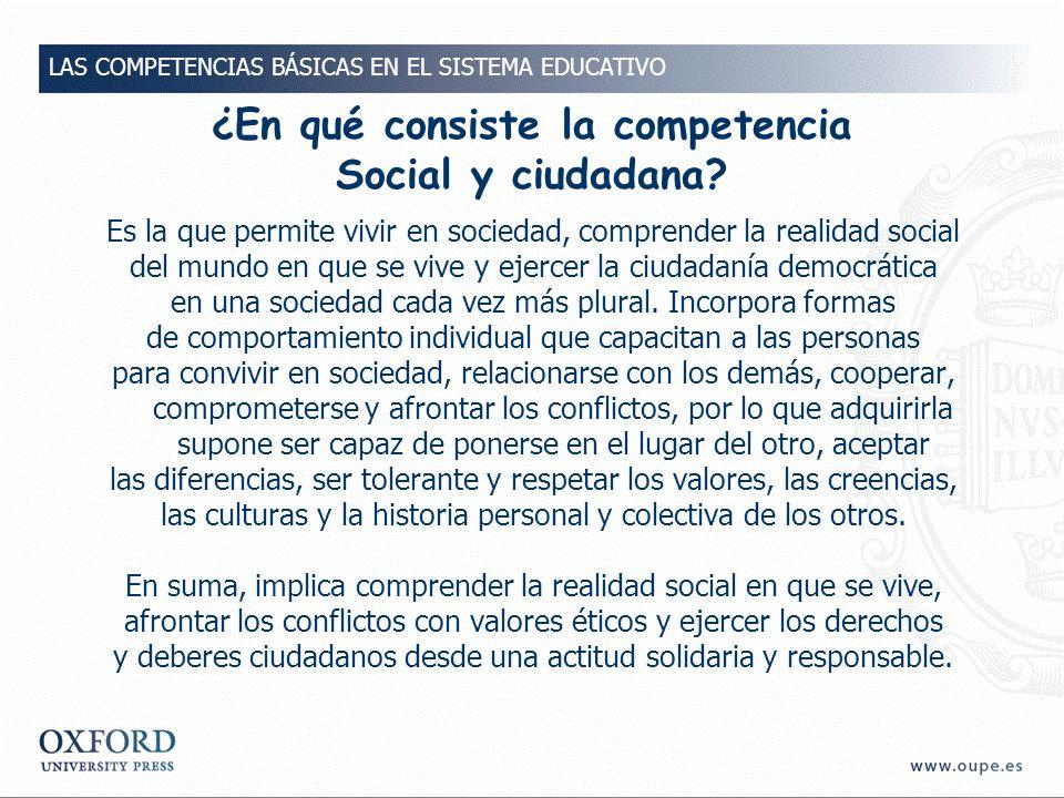 ¿En qué consiste la competencia Social y ciudadana
