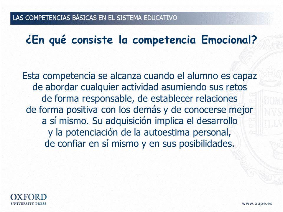 ¿En qué consiste la competencia Emocional
