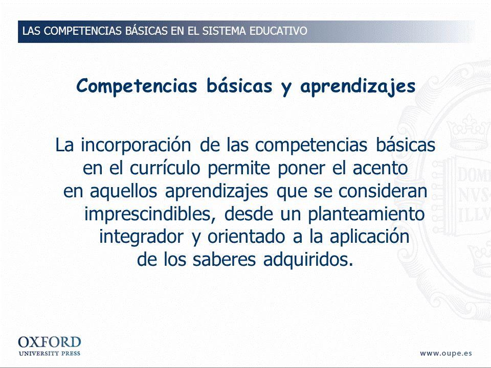 Competencias básicas y aprendizajes