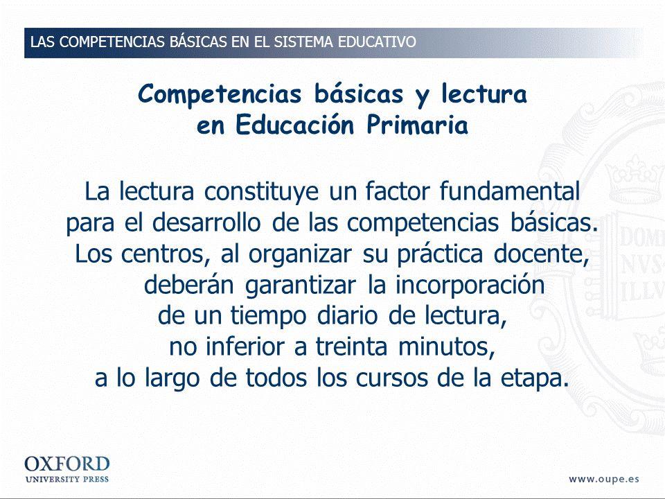 Competencias básicas y lectura en Educación Primaria