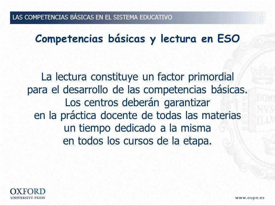 Competencias básicas y lectura en ESO
