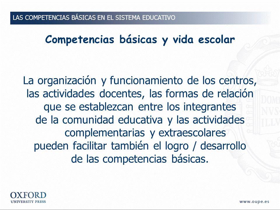 Competencias básicas y vida escolar