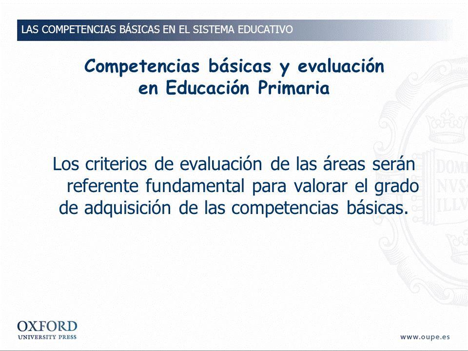 Competencias básicas y evaluación en Educación Primaria