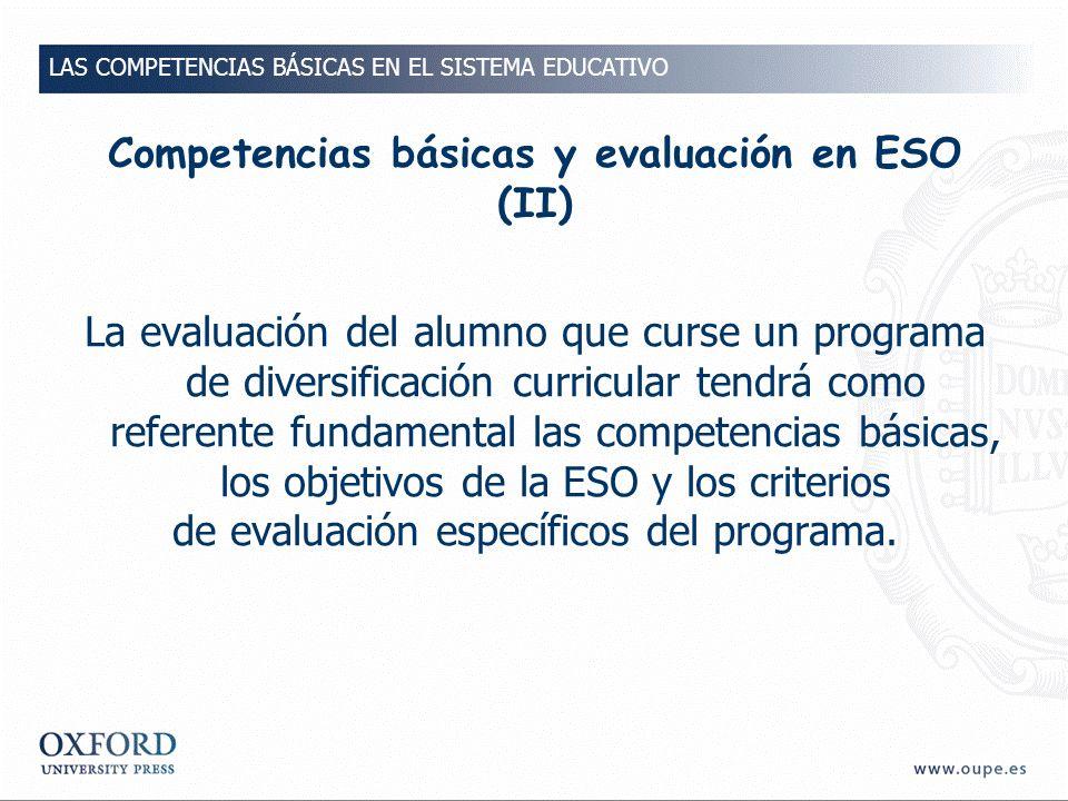 Competencias básicas y evaluación en ESO (II)