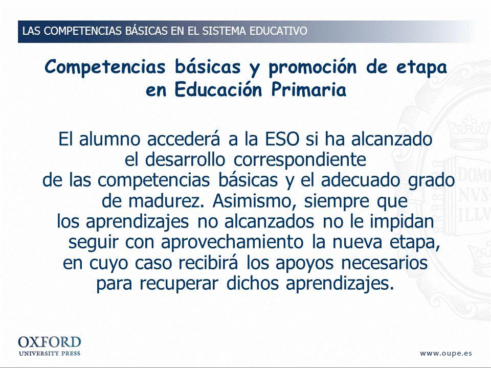 Competencias básicas y promoción de etapa en Educación Primaria