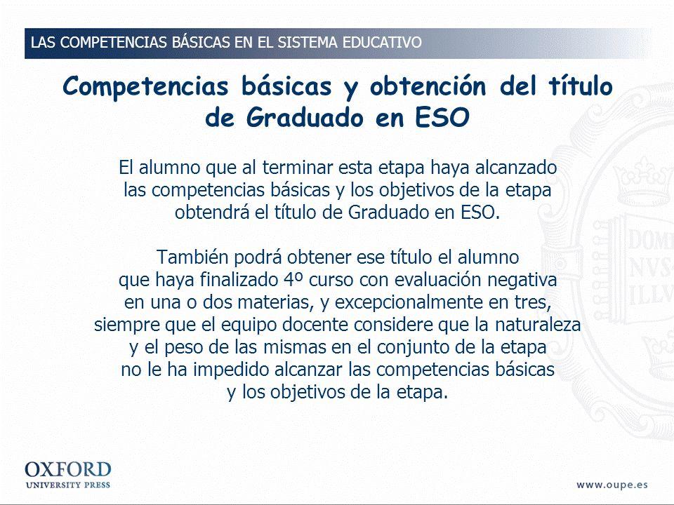 Competencias básicas y obtención del título de Graduado en ESO