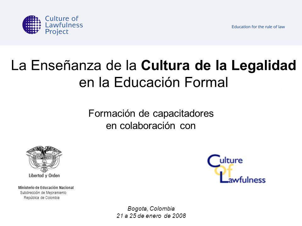 La ense anza de la cultura de la legalidad en la educaci n for Ministerio de ensenanza