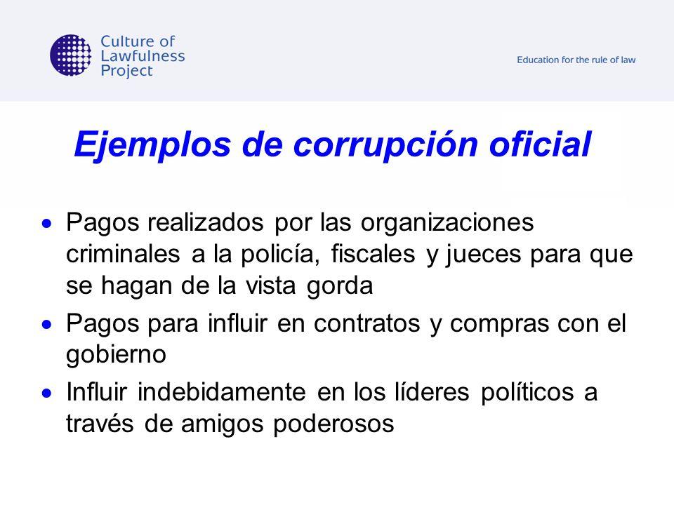 Ejemplos de corrupción oficial