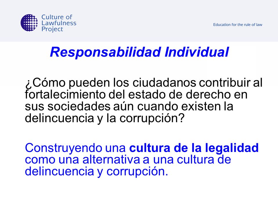 Responsabilidad Individual