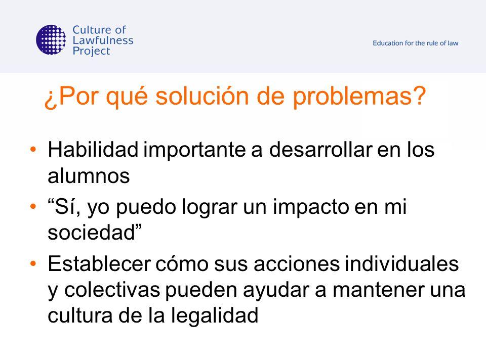 ¿Por qué solución de problemas
