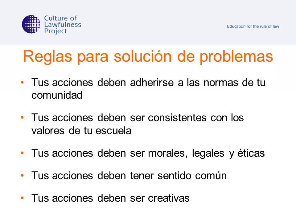 Reglas para solución de problemas