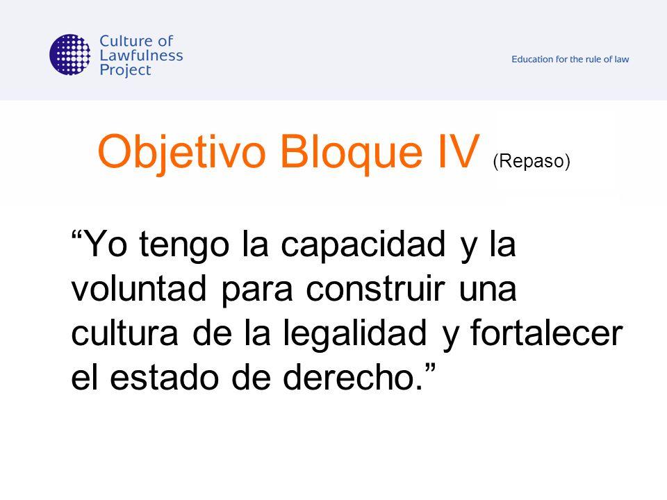 Objetivo Bloque IV (Repaso)