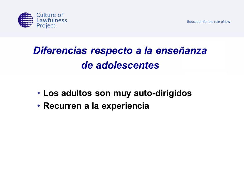 Diferencias respecto a la enseñanza