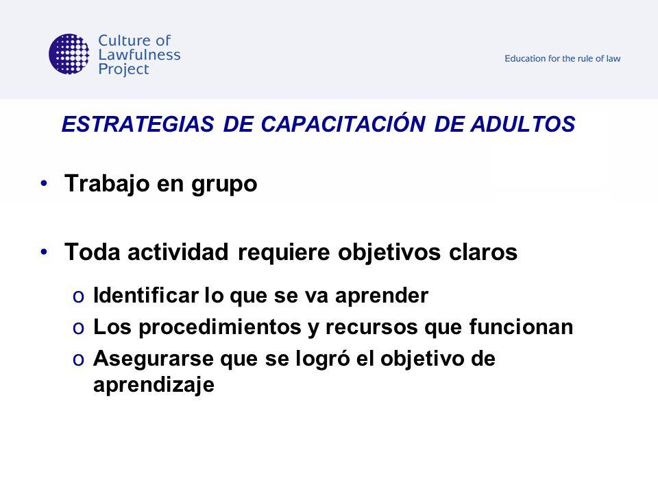 ESTRATEGIAS DE CAPACITACIÓN DE ADULTOS