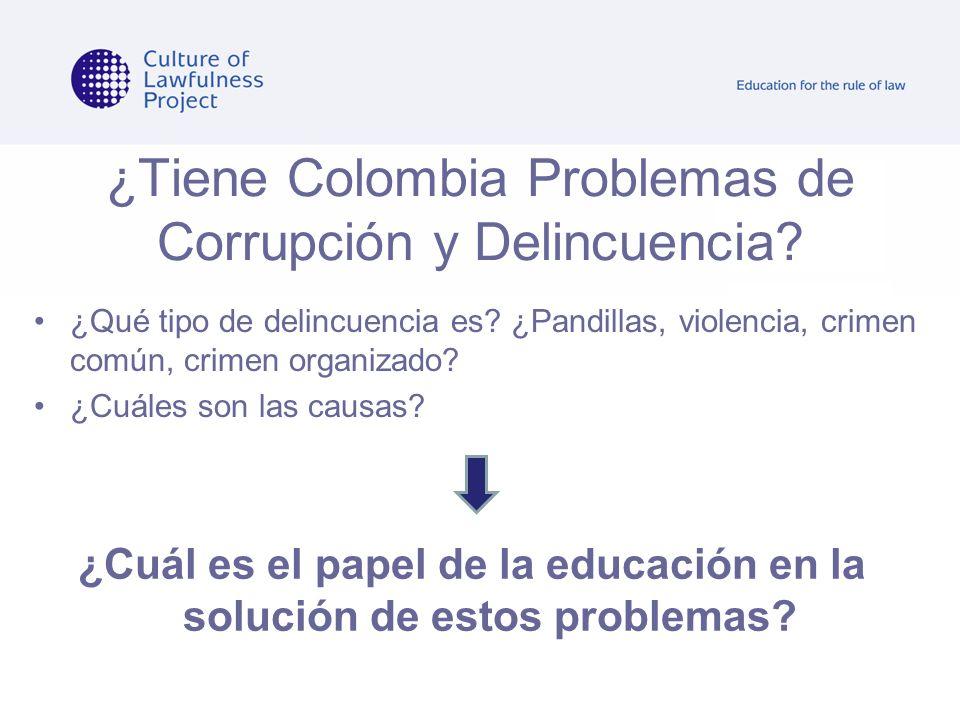 ¿Tiene Colombia Problemas de Corrupción y Delincuencia