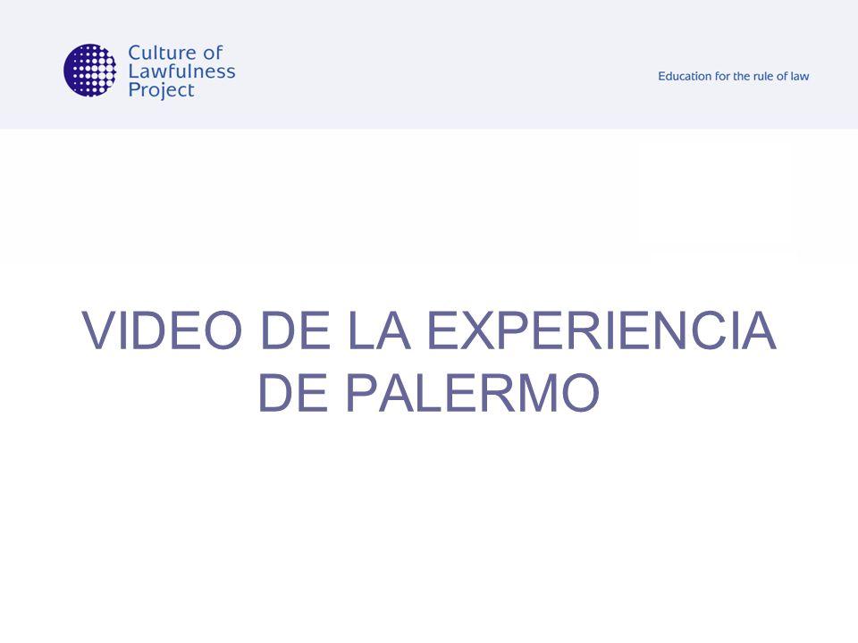 VIDEO DE LA EXPERIENCIA DE PALERMO