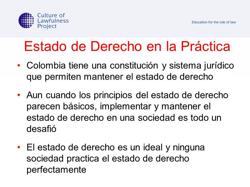 Estado de Derecho en la Práctica