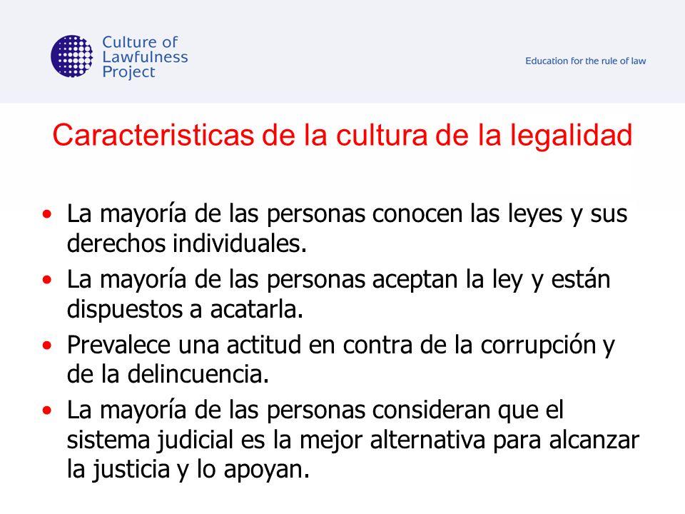 Caracteristicas de la cultura de la legalidad