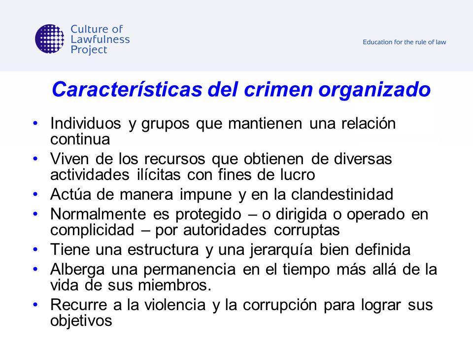 Características del crimen organizado