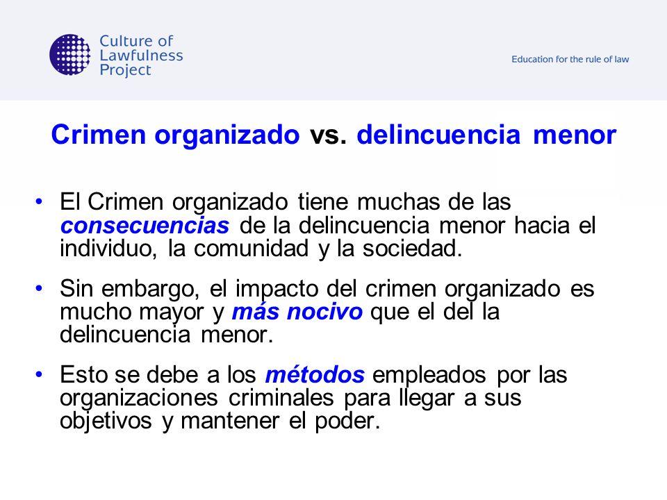 Crimen organizado vs. delincuencia menor