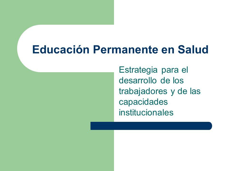 Educación Permanente en Salud