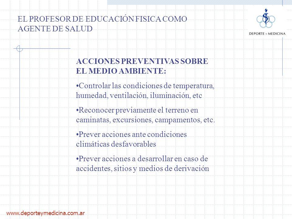 EL PROFESOR DE EDUCACIÓN FISICA COMO AGENTE DE SALUD