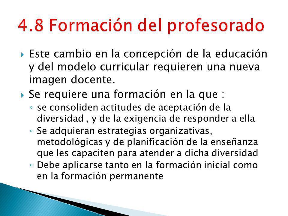 4.8 Formación del profesorado