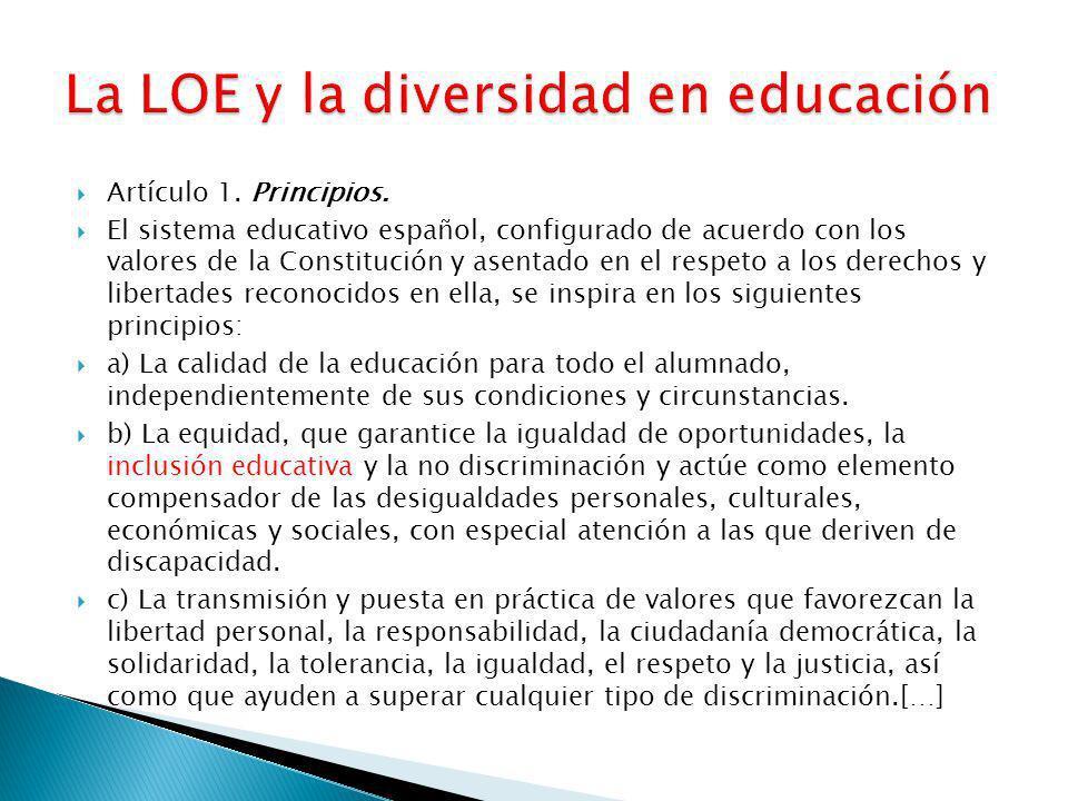 La LOE y la diversidad en educación