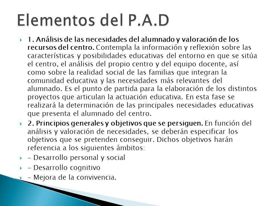 Elementos del P.A.D