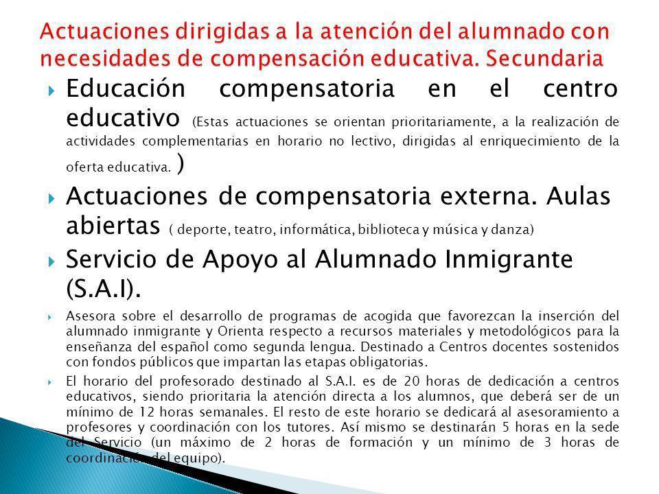 Servicio de Apoyo al Alumnado Inmigrante (S.A.I).